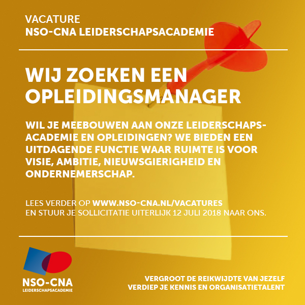 Vacature opleidingsmanager NSO-CNA