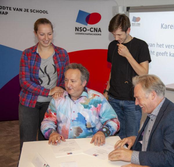 Afstuderen Karel Hermans, NSO-CNA